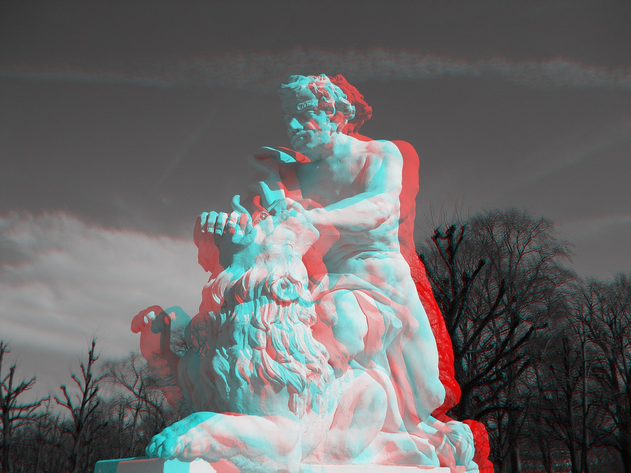Statue Anaglyph